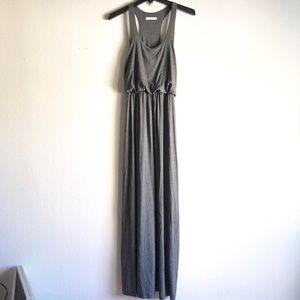 Lush racerback gray maxi dress